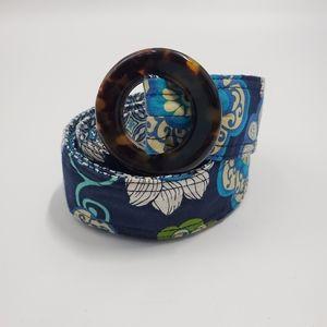 Vera Bradley Tourtoise Medallion Floral Belt Sash